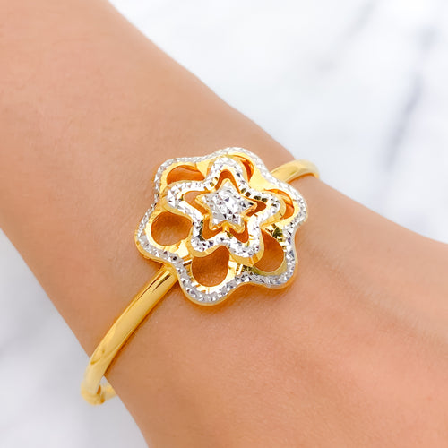 Magnificent Star Bangle Bracelet