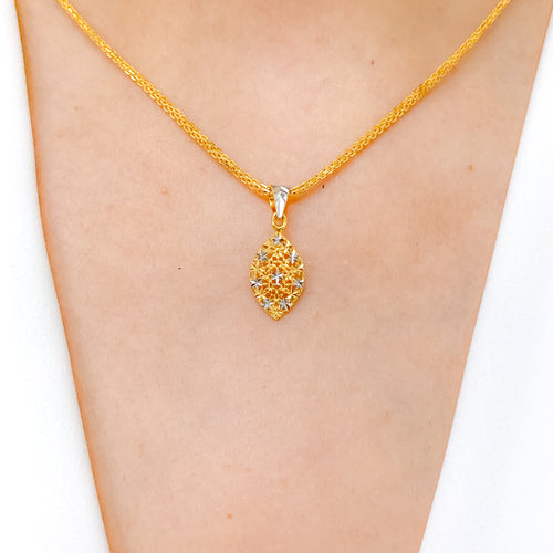 Lightweight Marquise Shaped Pendant
