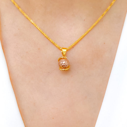 Rose Gold Ball Pendant