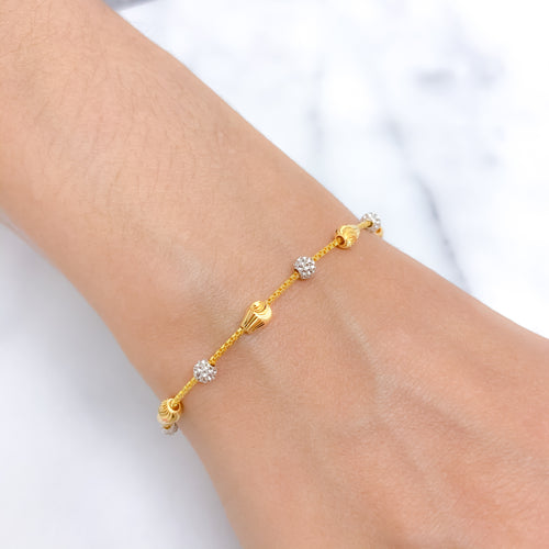 Chic Two-tone Bead Bracelet
