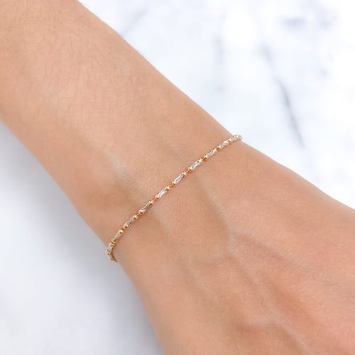 White + Rose Gold Bracelet