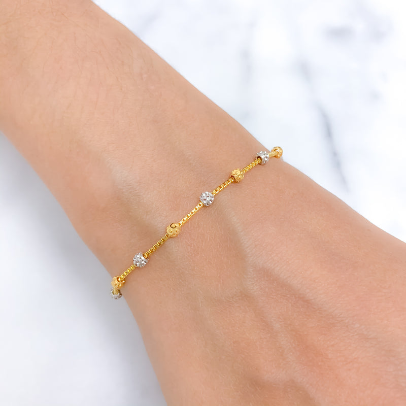 Everyday Gold Bead Bracelet