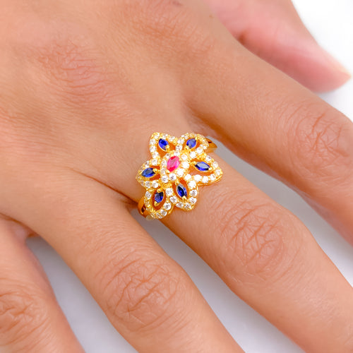 Stunning Colored Stone Ring
