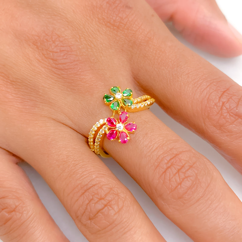Stunning Flower Stone Ring