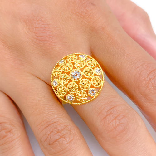 Lightweight Shining Circles Ring
