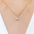 Charming Halo Diamond Pendant