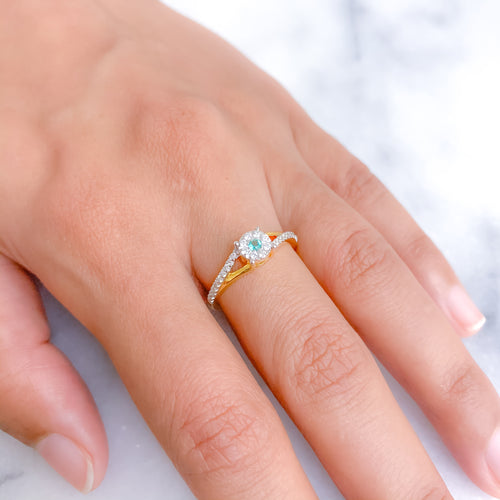 Intricate Accented Diamond Ring