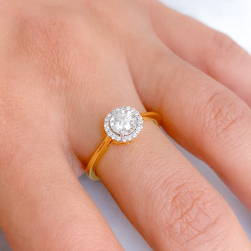 Halo Illusion Set Diamond Ring