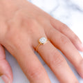 Cushioned Halo Diamond Ring