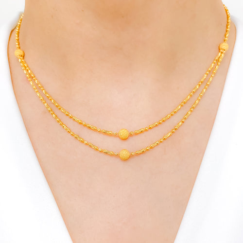 Two Lara Yellow Gold Necklace Set