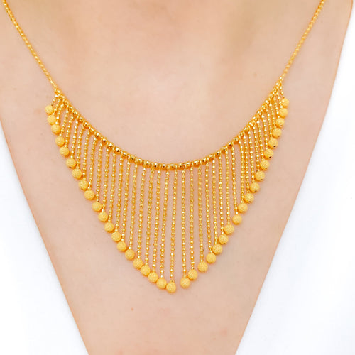 Exquisite Falling Tassel Necklace Set