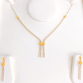 Dual Tassel Necklace Set