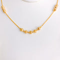 High Finish Simple Cut Gold Necklace