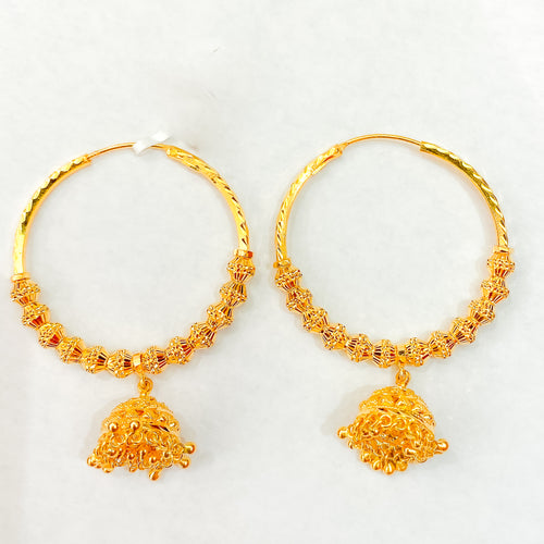 Bali Earrings w/ Jhumki Drop