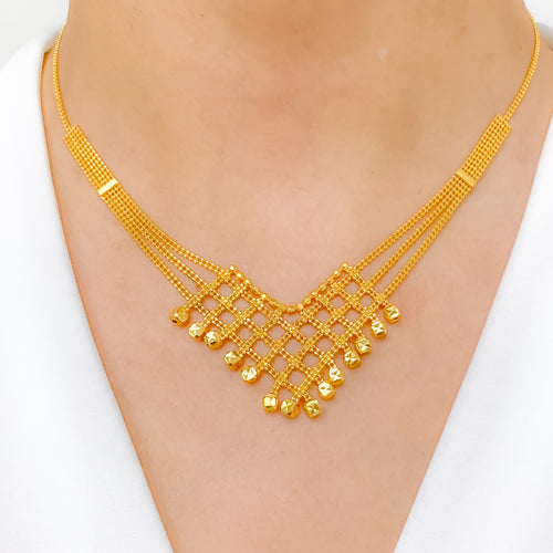 Ritzy Boxed Dropped Necklace Set