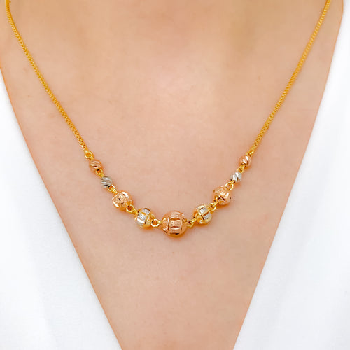 Stunning Three-Tone Necklace