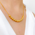 Classic Shimmering Yellow Necklace