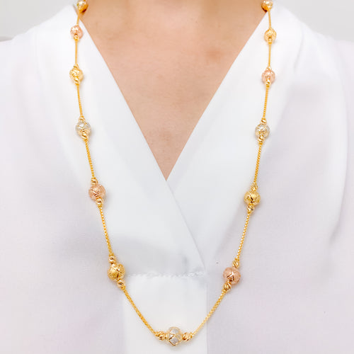 Elevated Criss Cross Long Necklace