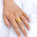 Fancy Petals Two-Tone Ring