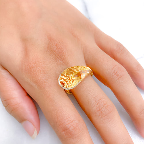 Ritzy + Posh Three-Tone Ring