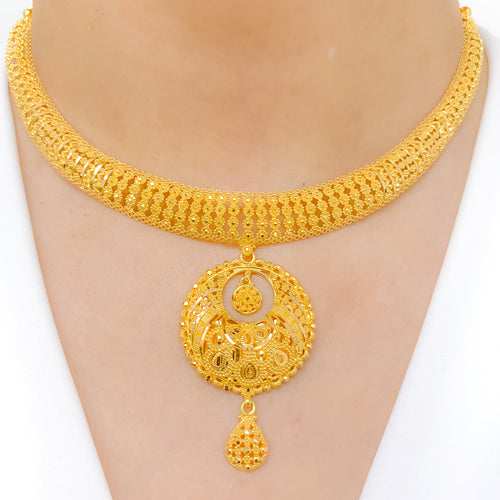 Refined Chand Filigree Necklace Set