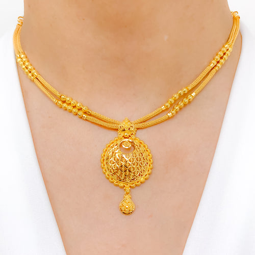 Dual Lara Traditional Necklace Set