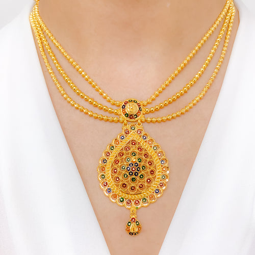Elegant Meena Lara Necklace Set