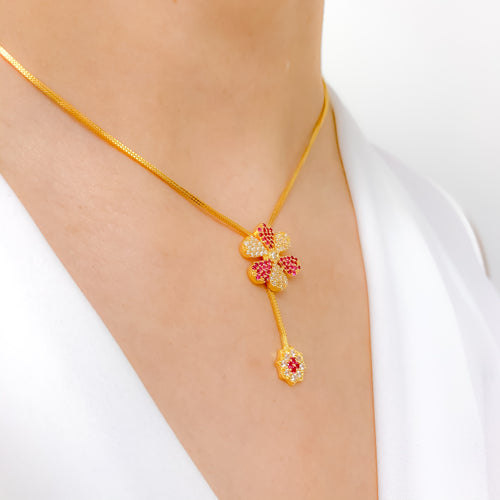 Sparkling Flower CZ Necklace