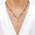 Simple Two-Tone Mangal Sutra Necklace