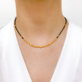 Everyday Gold Bead Mangal Sutra Necklace
