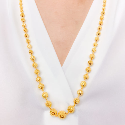 High Finish Matte Accent Gold Necklace Set