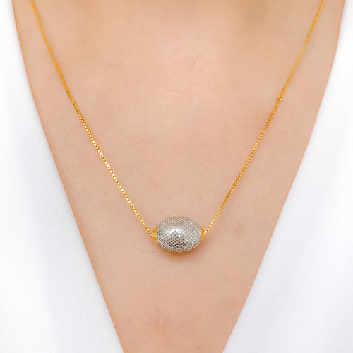 Modernized Pendant and Chain Necklace