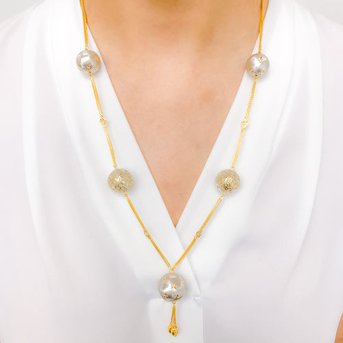 Grandiose Two Tone Necklace Set