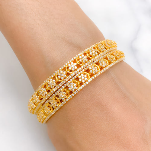 Elegant + Classic CZ Bangle Pair