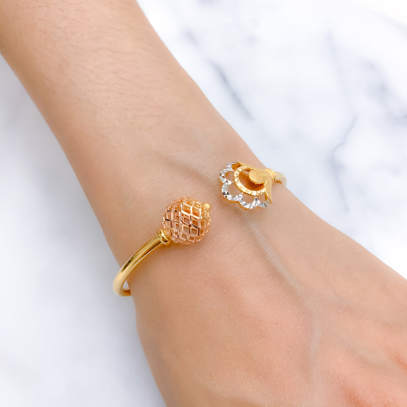 Exclusive Two Tone Bangle Bracelet