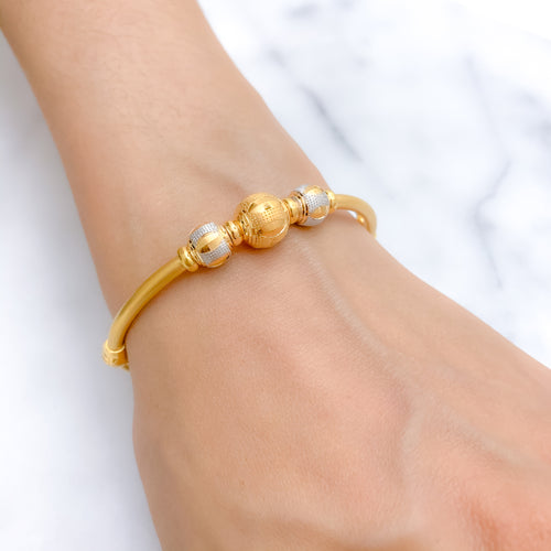 Shining Two Tone Bangle Bracelet
