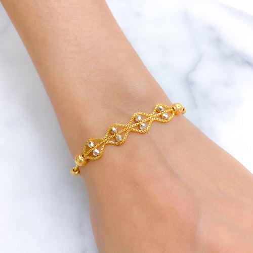 Stylish Two Wave Bracelet