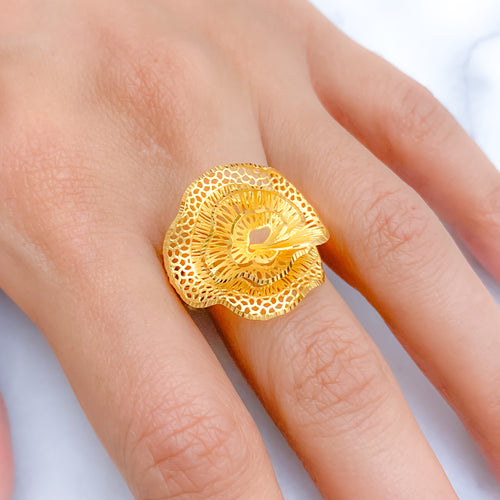Swirl Flower Ring