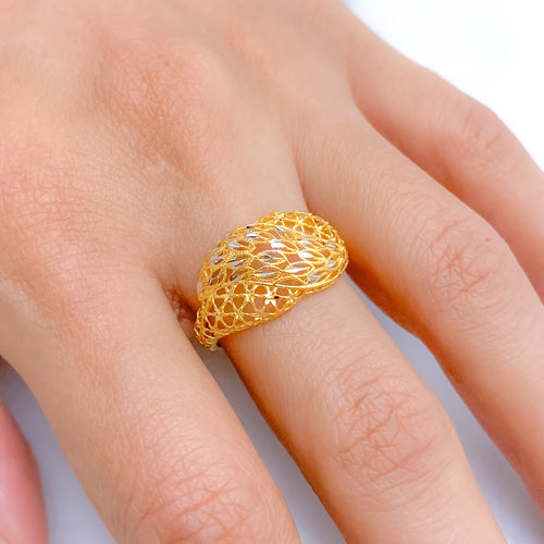 Twisted Vine Two-Tone Ring