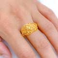 Twisted Vine Yellow Gold Ring