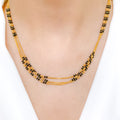 Triple Chain Mangal Sutra Necklace