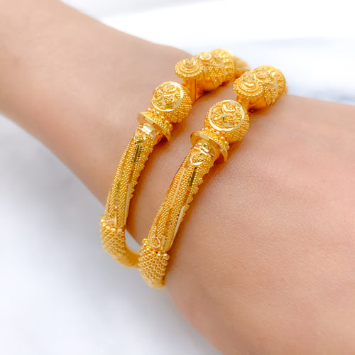 Royal + Intricate Pipe Bangle Pair