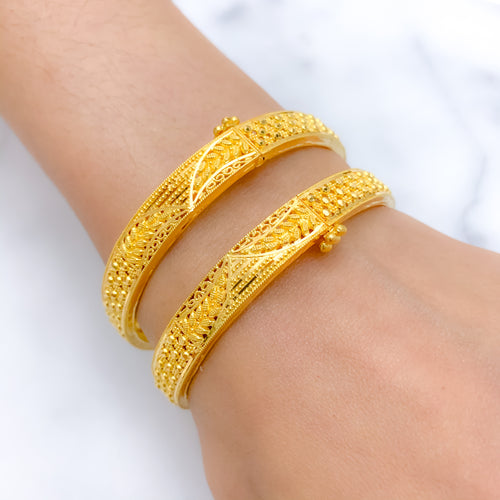 Charming Screw Bangle Pair