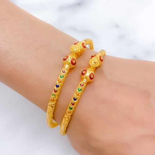 Charming + Lightweight Meena Pipe Bangles