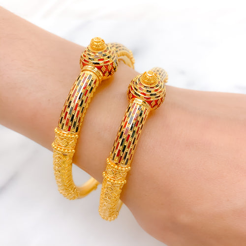 Statement Meena Pipe Bangles