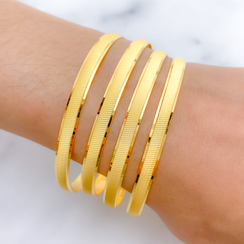 Posh Dual-Finish Bangles