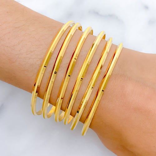 Modern Matte Finish Machine Bangles