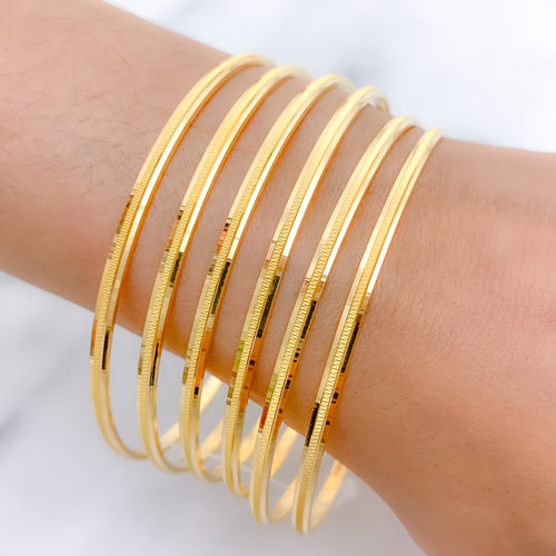 Chic Laser Etched Bangles