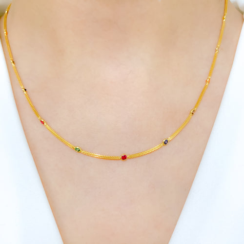 Multi-Colored Accented Necklace