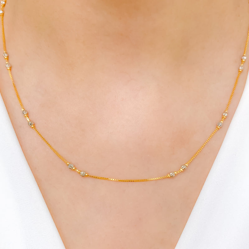 Chic Lightweight Double Bead Chain